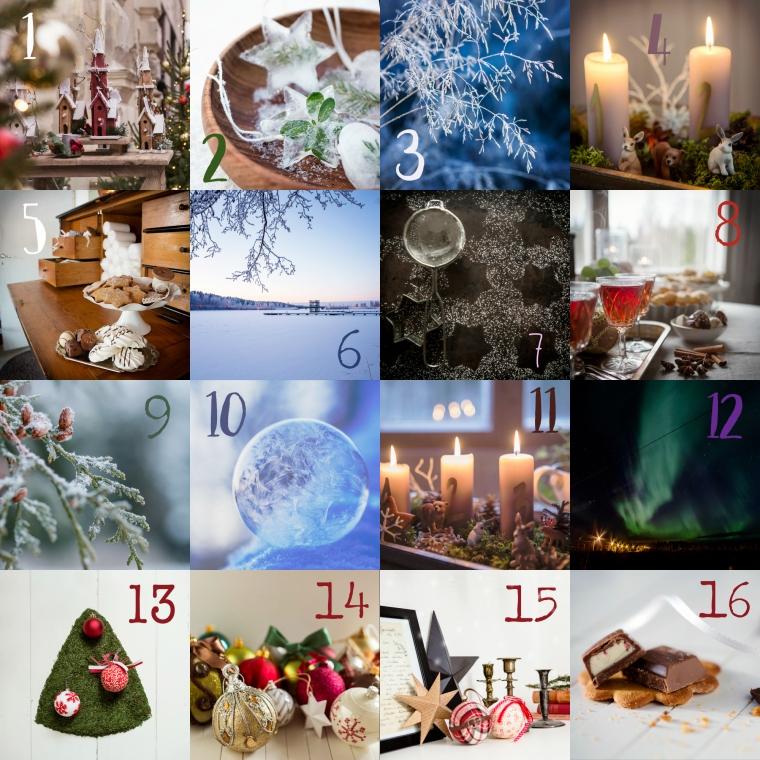 Joulukalenteri omista kuvista