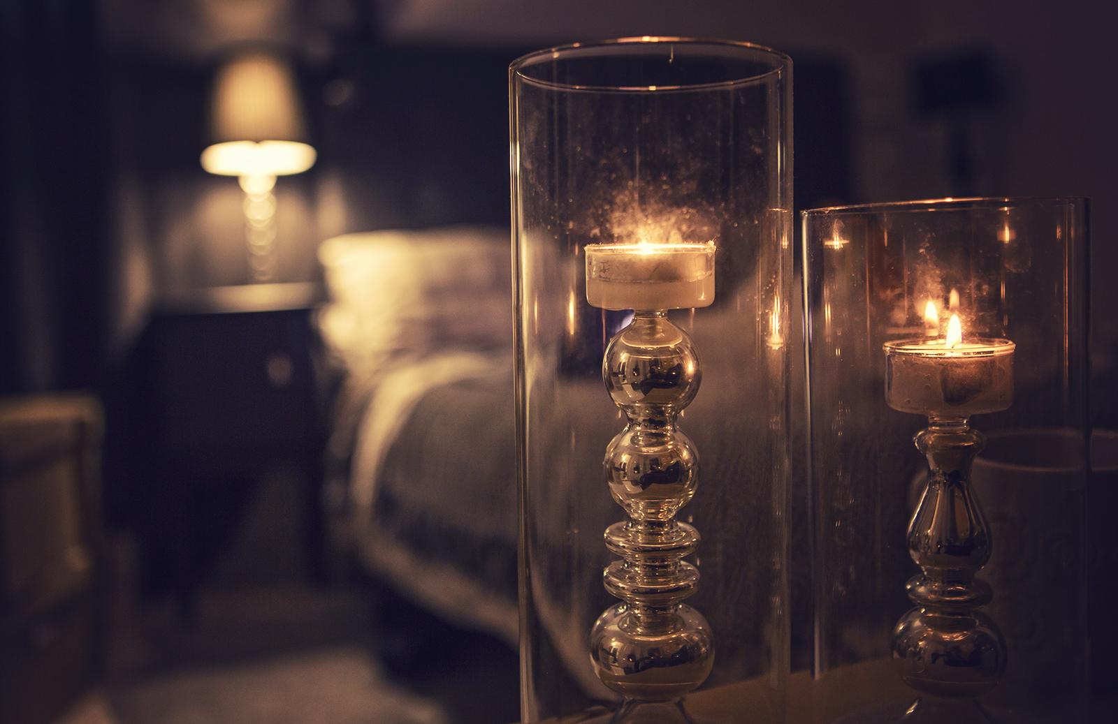 Kynttilanjalka lasinen